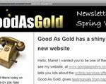 Gold As Gold email newsletter