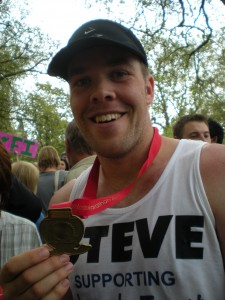 Steve completes the London Marathon