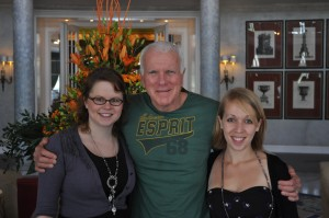 From left to right: Rebecca Sloan, Ned Dowd and me, Marie Kreft